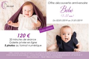 Séance Bébé – Offre découverte anniversaire