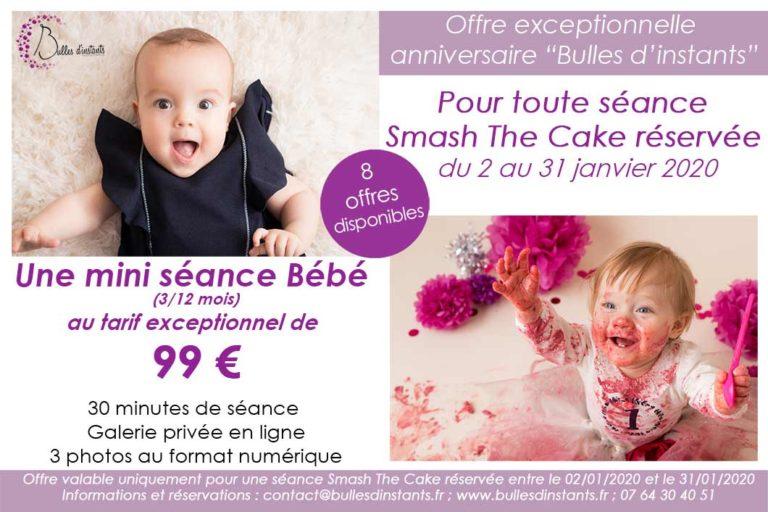 Offre spéciale séance photo bébé et anniversaire