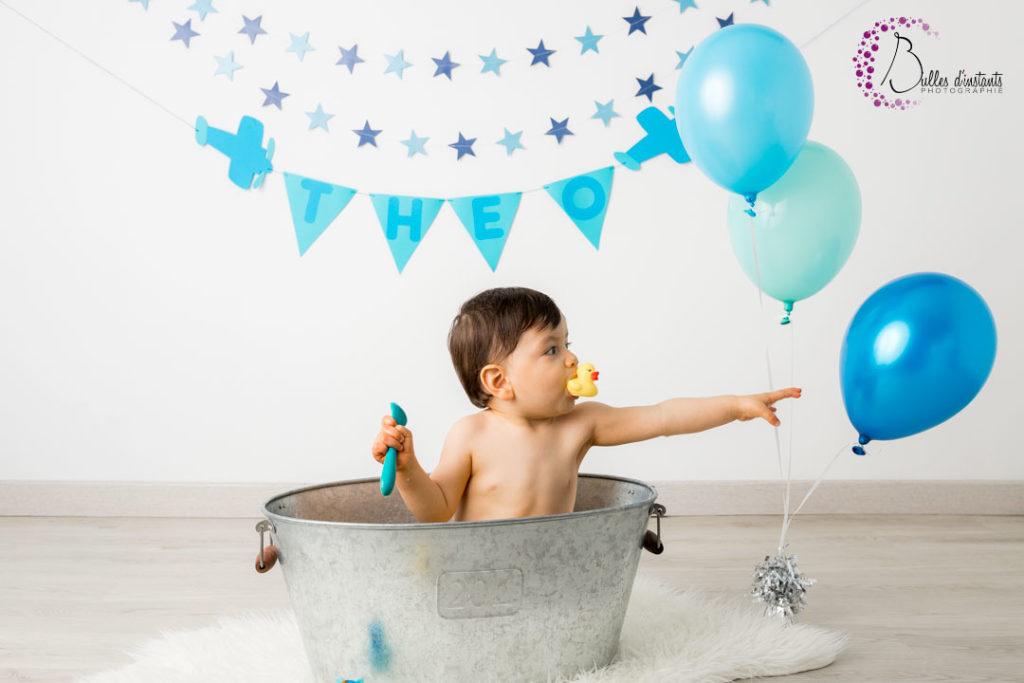 photographe bebe anniversaire bain yvelines 78