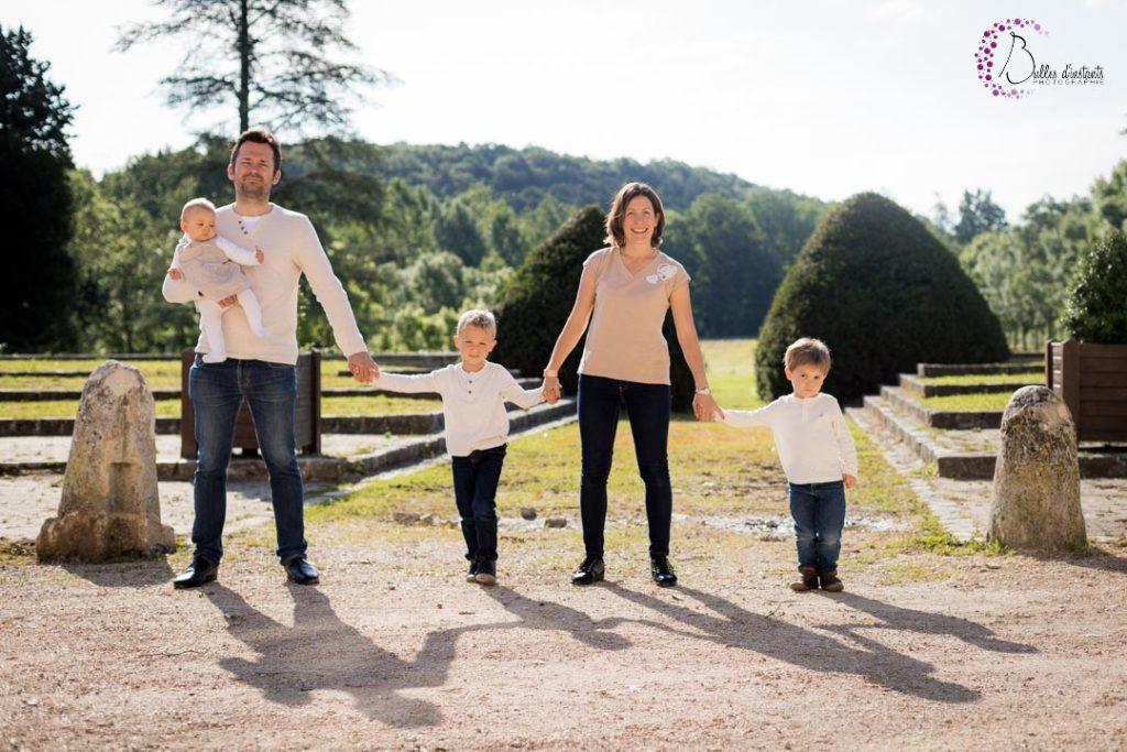 seance photo de famille exterieur yvelines parc chateau plaisir yvelines 78