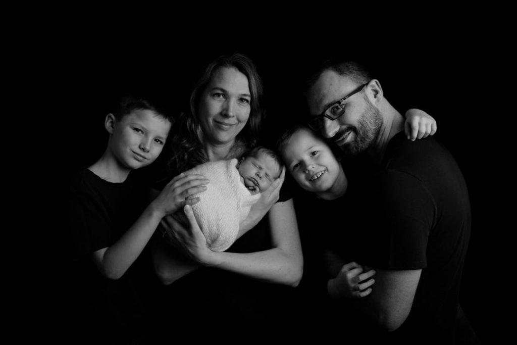 photo de famille dans les Yvelines 78 naissance de bébé