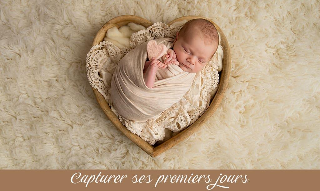 photographe de naissance pour bébé dans les Yvelines 78 tout en douceur et naturel